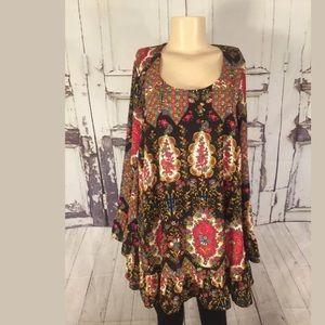 Show Me Your Mumu Mini Dress Tunic Top Ruffle